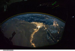 Egypt at Night - CC-BY-NC 2.0 by NASA